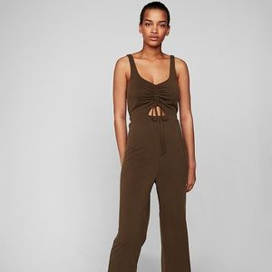 NWT Express Cut-Out Ruched Jumpsuit